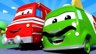 Поезд для детей -  Карло учит готовить пиццу - Поезд Трой в Автомобильном Городе