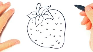 strawberry drawing lesson