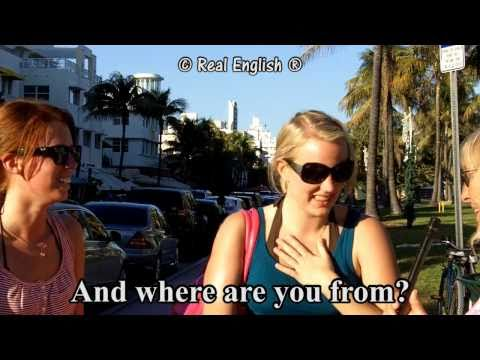 Real English® - 3 b - What's your name? Can you spell it? Where are you from? - 2011 Update.