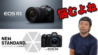 【カメラ】EOS R5とEOS R6の違いを比べてみます!あなたに合うののはどちら?