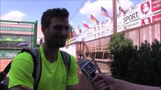 Marek Michalička po výhře v prvním kole na turnaji Futures v Pardubicích