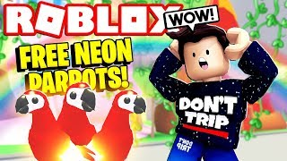 How to Get a FREE NEON PARROT PET! Adopt Me NEW Jungle Update (Roblox)