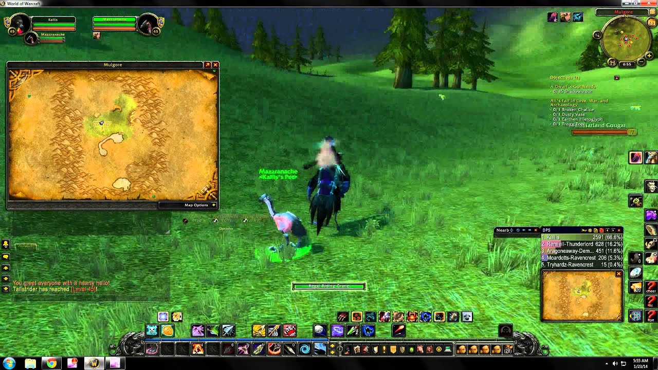 World of Warcraft rare hunter pet locations - Mulgore