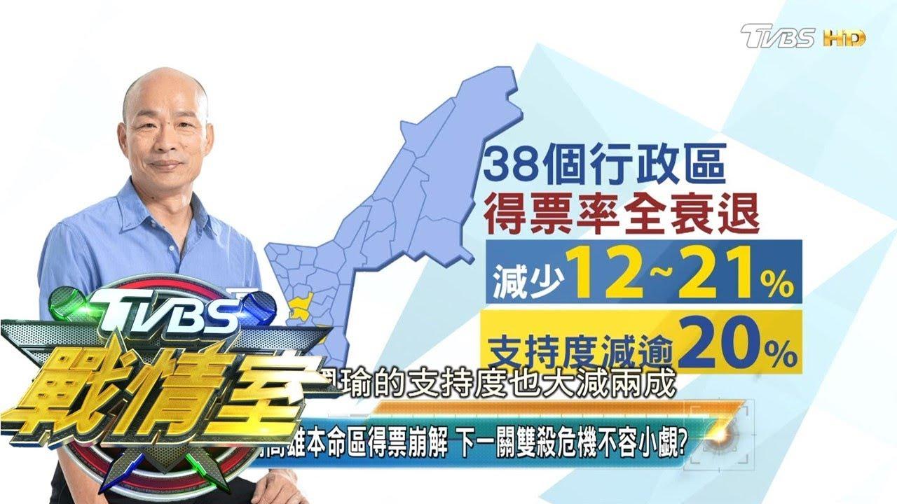 韓國瑜高雄本命區得票崩解 下一關雙殺危機不容小覷? TVBS戰情室 決戰新政局 20200119 - YouTube