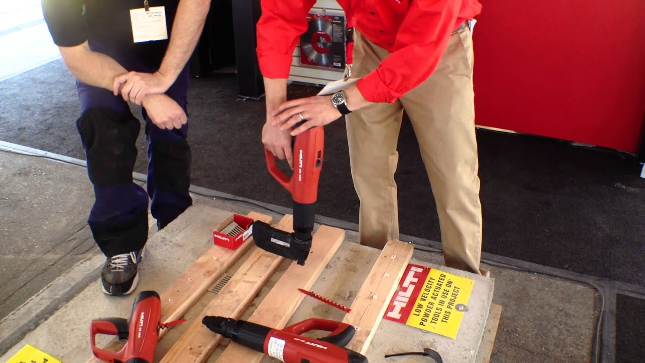 Hilti Powdered Actuated Tools - DX 460 MX - YouTube
