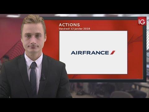 Bourse - Action Air France KLM, de nouveau dégradée - IG 12.01.2018