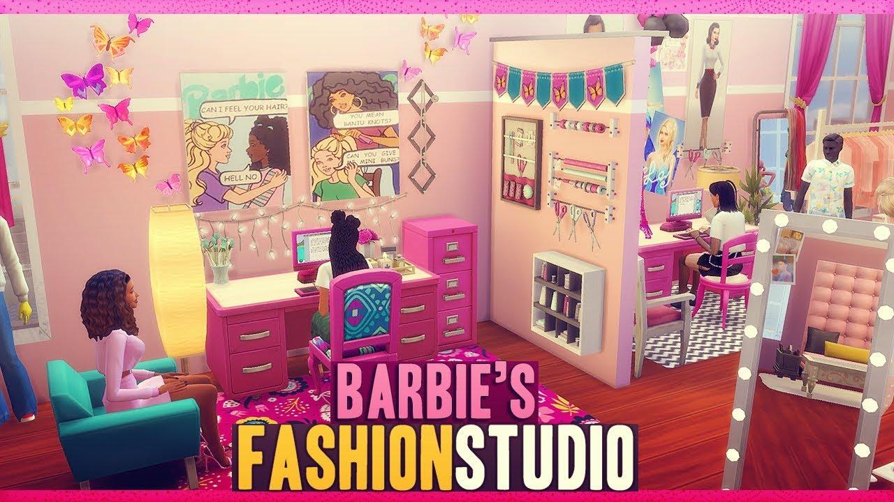 Sims 4 Barbie Fashion Studio Youtube