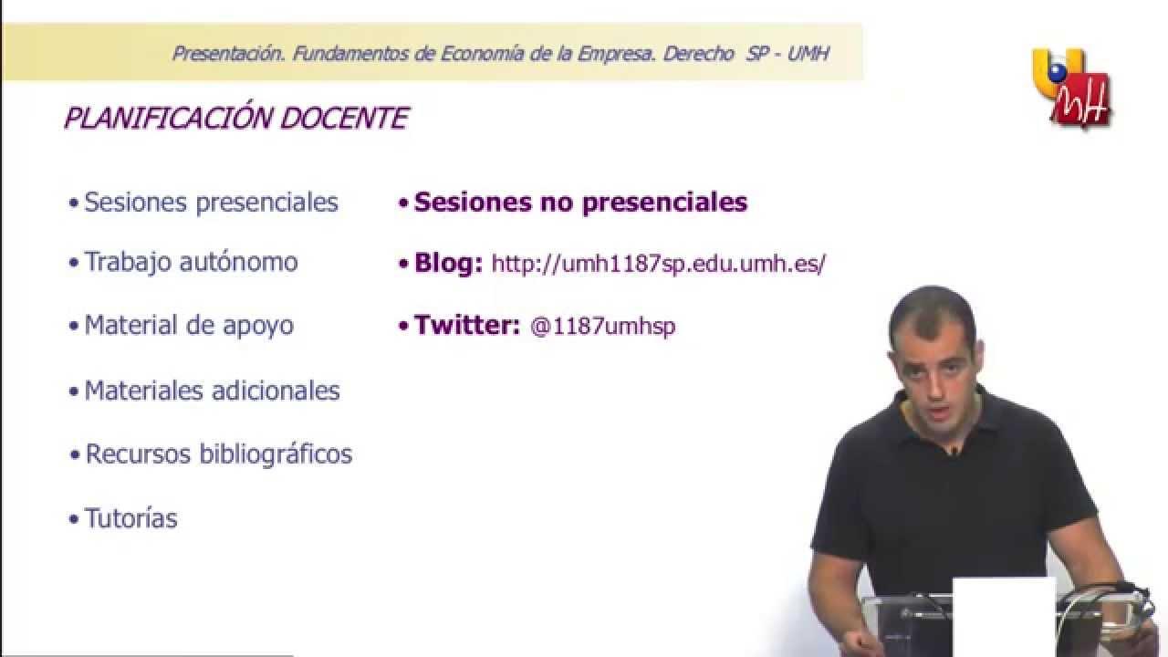 Presentación de la asignatura Fundamentos de Economía de