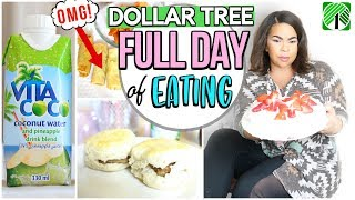 DOLLAR TREE: WHAT I EAT IN A DAY 2018! FULL DAY OF EATING DOLLAR STORE FOOD #3