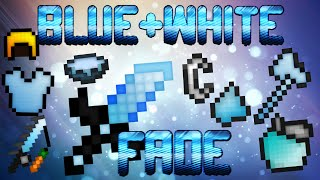 ★ Blue and White FADE - Minecraft PvP Pack - 1.7 1.8 1.9 UHC LowFire HD Default