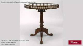 English Antique End Table Chippendale Tables For Sale
