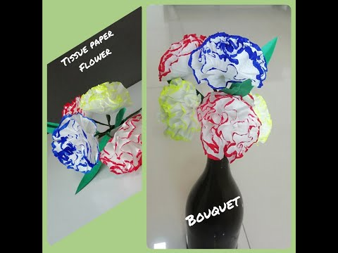 DIY Tissue Paper Flower Bouquet, How to make east Tissue Paper Flower and Bouquet, Flower Making
