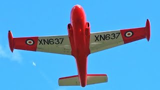 HEAD ON FROM 28! HUNTING JET PROVOST T.3 XN637(G-BKOU)@BLACKPOOL AIRPORT