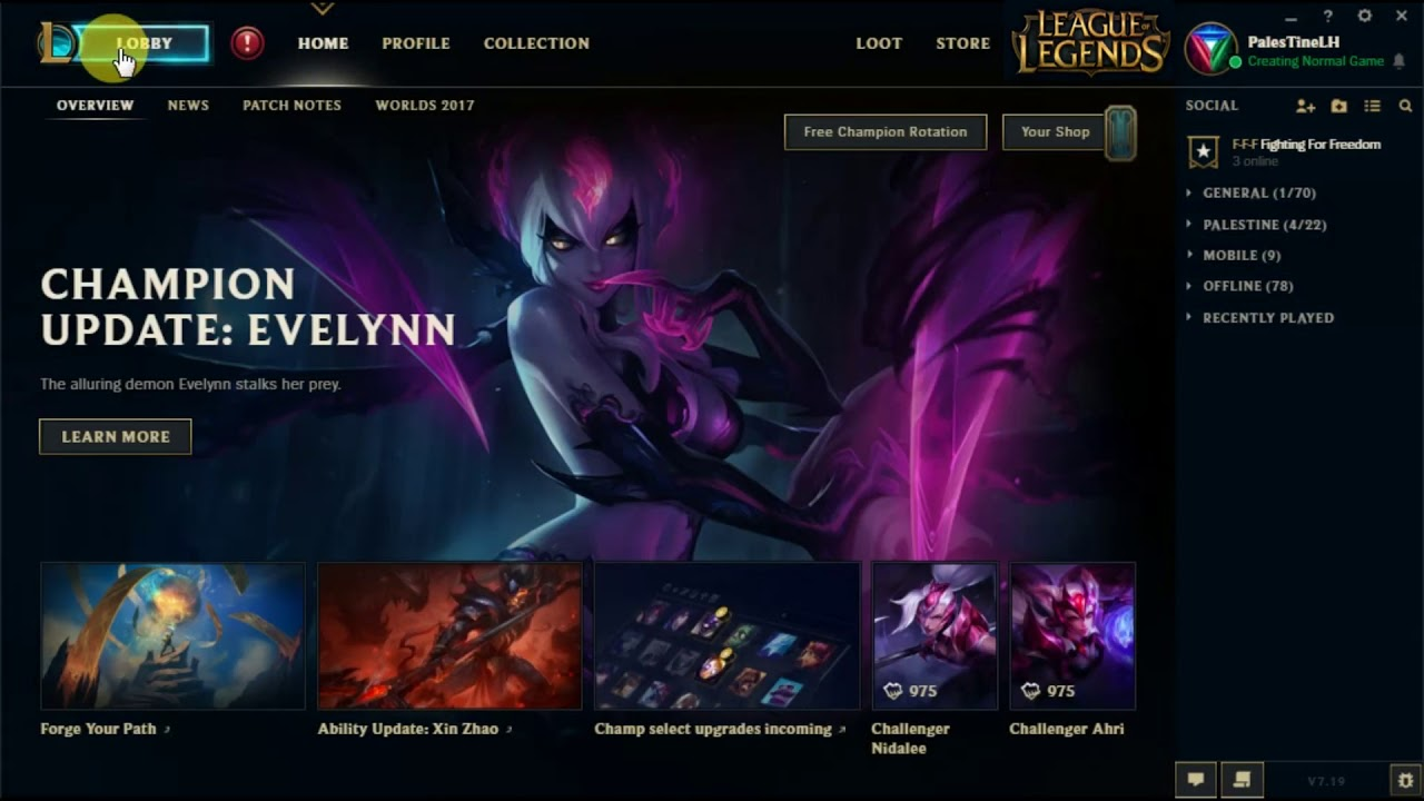 LOL Client is not working after 7 19 patch update