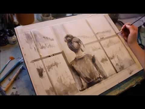 Window Scene - Quick Ink Sketch