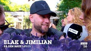 BLAK & Jimillian på den røde løber til The Voice