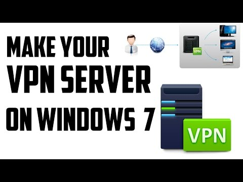 How To Create Your Own VPN SERVER On Windows 7 Computer