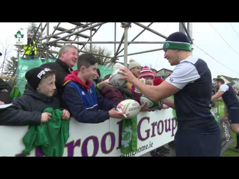 Irish Rugby TV: Ireland Squad Training At Mullingar RFC