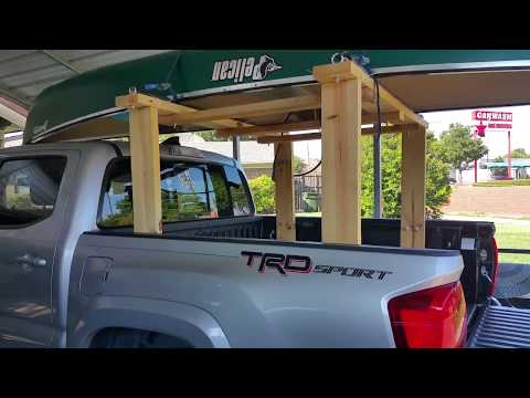 DIY Homemade Truck Bed Rack (Ladder, Canoe, Kayak)