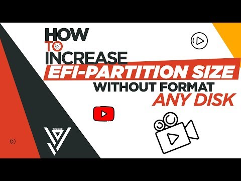 How to increase EFI-partition size without format windows || 2019