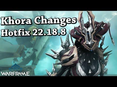 Warframe  Khora Changes Hotfix 22188