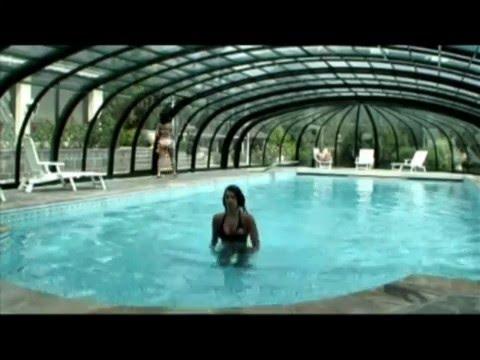 Coperture per piscine aquanova modello basso elegant e modello alto olympic youtube - Coperture mobili per piscine ...