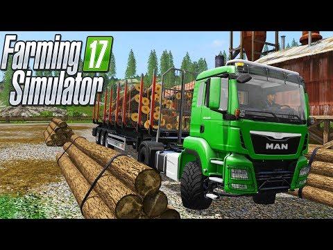 ВЫРУБАЕМ ЛЕС! ПРИЦЕП С АВТОПОГРУЗКОЙ. Farming Simulator 17