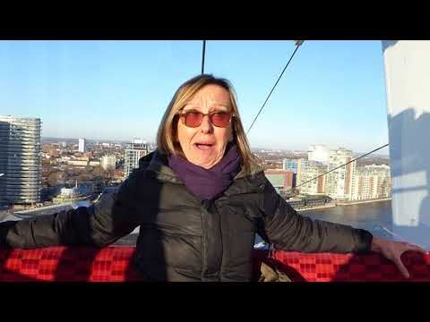 Emirates Air Line Cable Car.. Windy Day In February