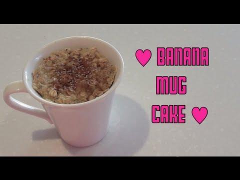 Banana Mug Cake - Clean Eating Microwave Recipe ♥ - YouTube