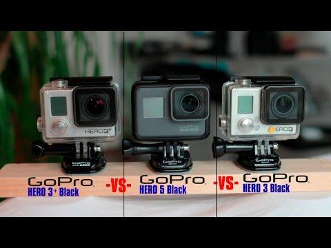 GoPro Comparison   Hero 5 vs Hero 3+ Black vs Hero 3 Black