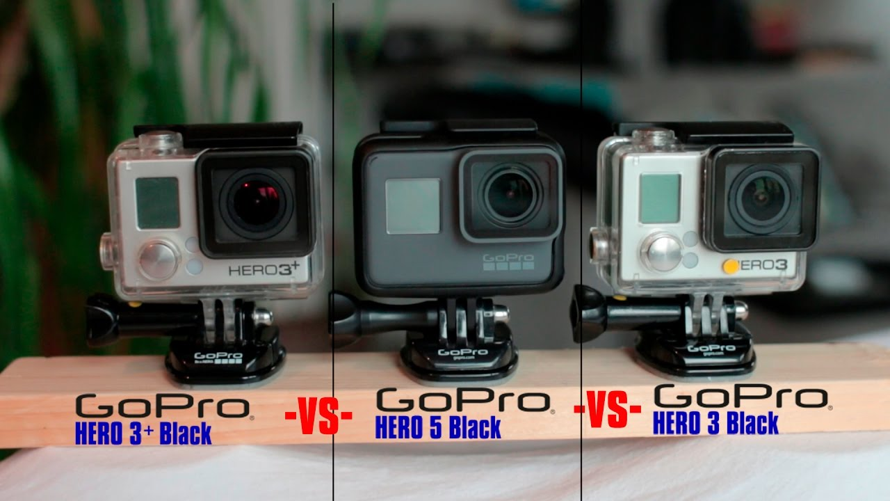 gopro comparison hero 5 vs hero 3 black vs hero 3 black youtube. Black Bedroom Furniture Sets. Home Design Ideas