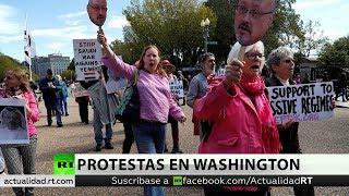 Activistas protestan en Washington contra la política belicista de EE.UU.