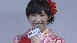 アイドルグループ「AKB48」の渡辺麻友さん、島崎遥香さん、永尾まりやさ...