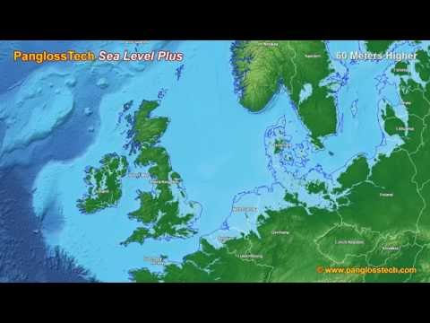 Sea Level Rise in Northern Europe (New HD)