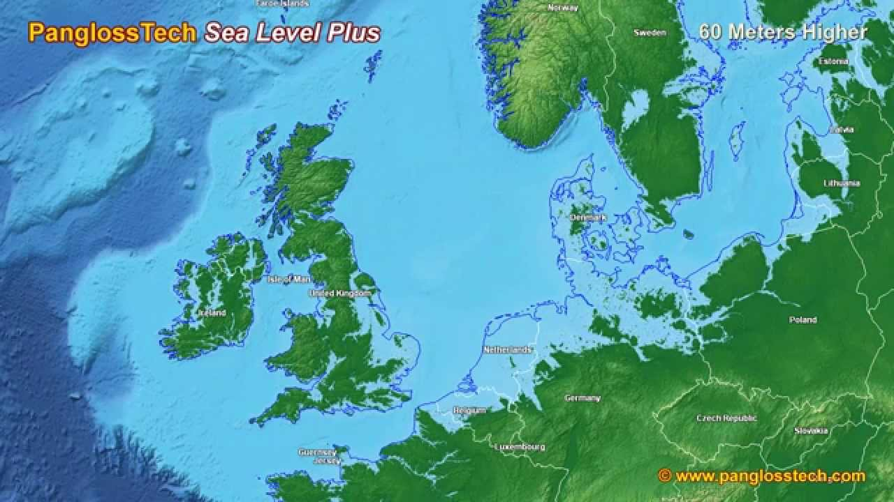 Sea Level Rise In Northern Europe New HD YouTube - New us map after sea level rise