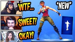 """STREAMERS REACT TO *NEW* """"CRISS CROSS"""" EMOTE/DANCE! *RARE* Fortnite FUNNY & SAVAGE Moments"""