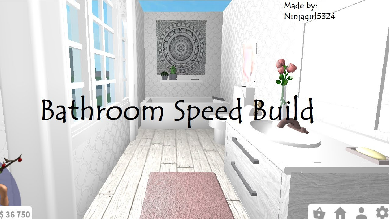 Welcome to Bloxburg Bathroom Speed Build - YouTube
