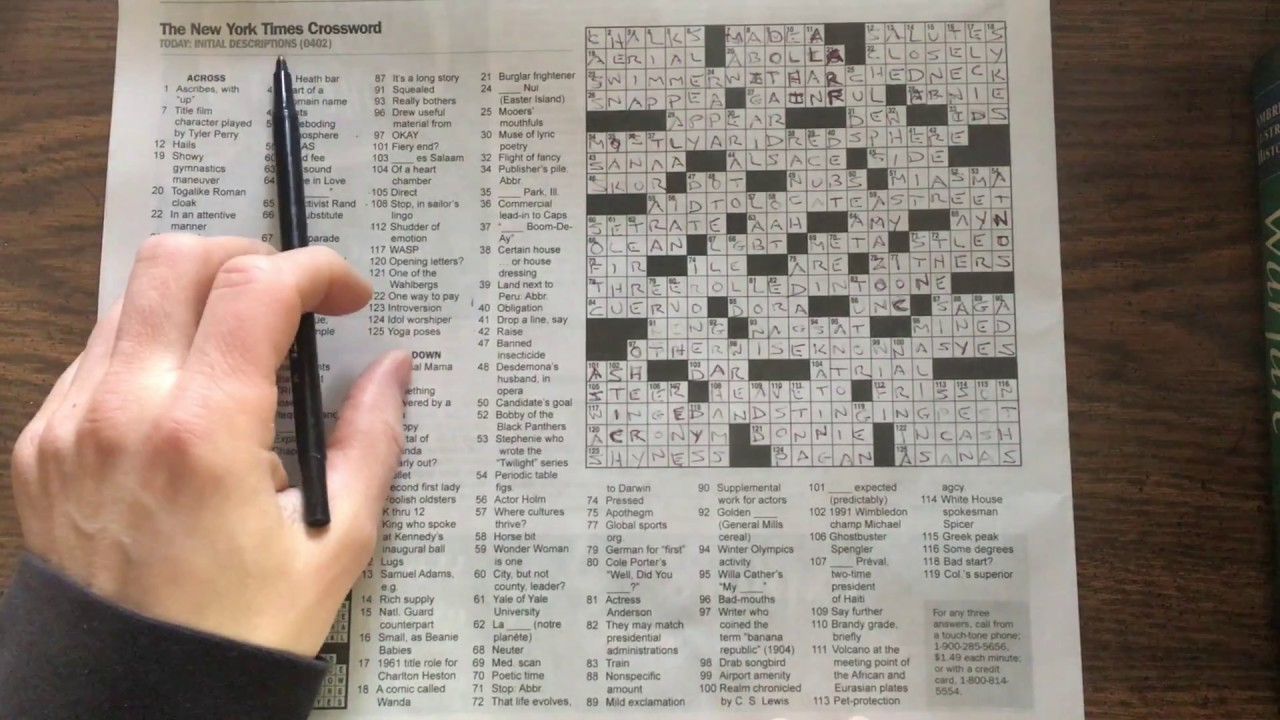 Nyt 2apr17 crossword puzzle gimmick explained youtube nyt 2apr17 crossword puzzle gimmick explained urtaz Gallery