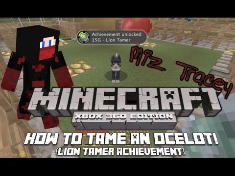 Minecraft 360 Taming an Ocelot! [TU24] Get a Pet Cat & The Lion Tamer Achievement