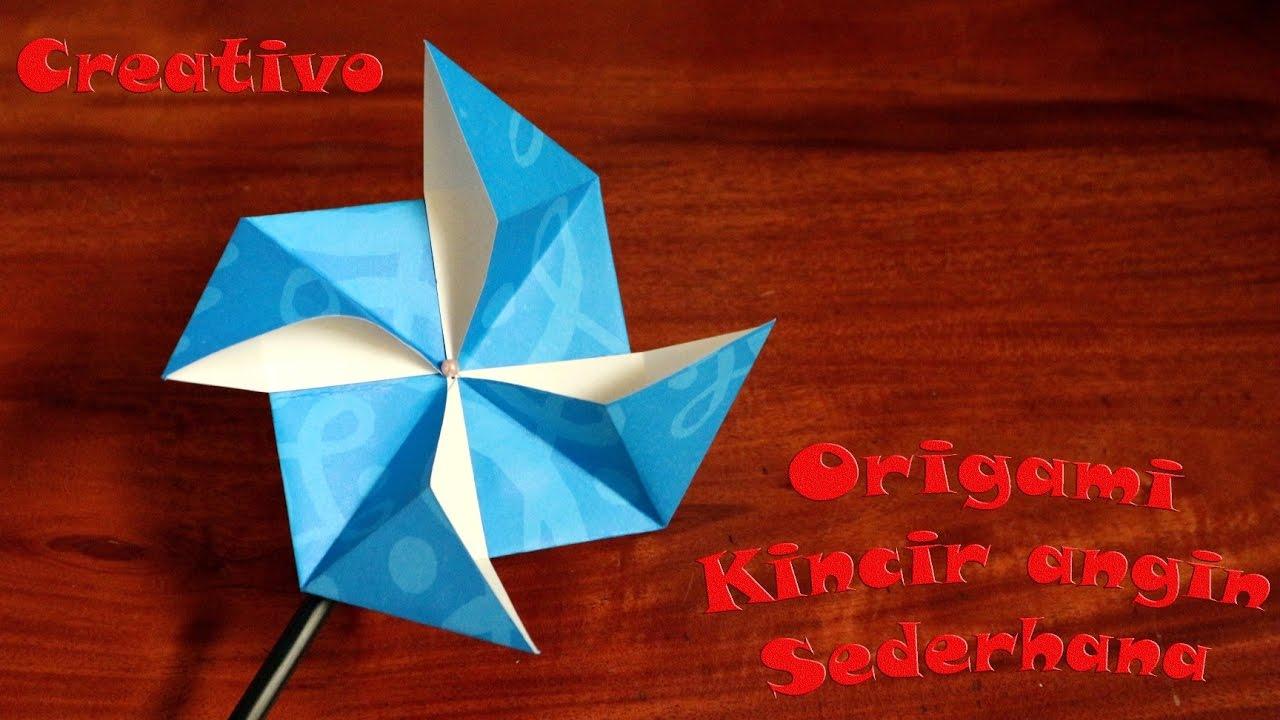 Cara Membuat Origami Kincir Angin Dari Kertas Mudah