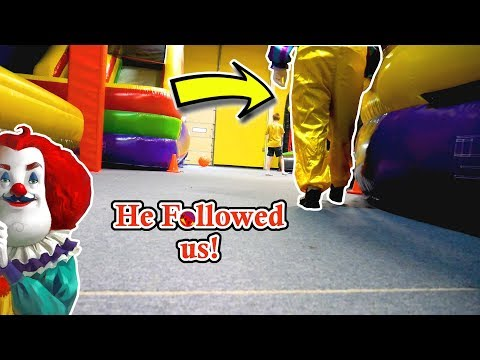 The Hello Neighbor Clown Followed us! - In Real Life (Skit)
