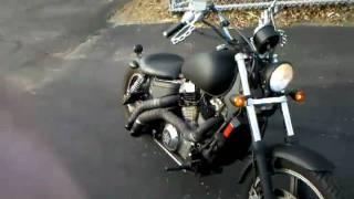 Honda Shadow 1100 bobber walk around