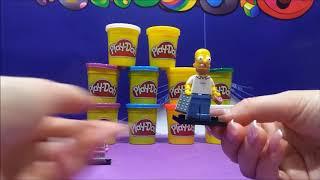 Play Doh Unboxing Homer Simpson LEGO Peppa Pig Shopkins & Littlest Pet Shop Toys