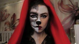 ✖ Красная ШАПОЧКА и ВОЛК ✖ Halloween Makeup Tutorial #missAnnsh
