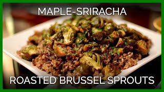 Maple-sriracha Roasted Brussels Sprouts With Cranberry Wild Rice | Vegan Holiday Cooking