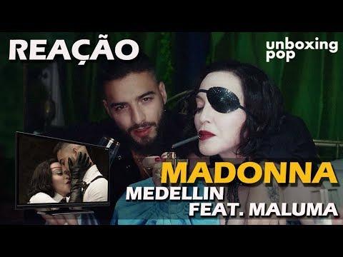 REAÇÃO  MADONNA - MEDELLIN FEAT MALUMA
