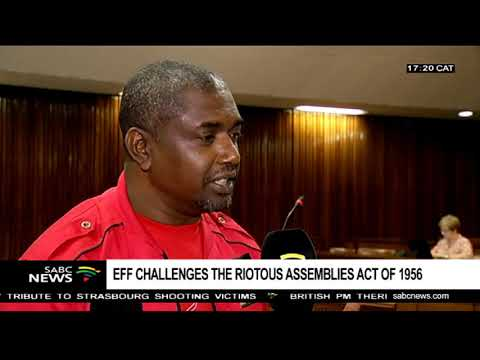Judgment in Malema's Riotous Assemblies Act case reserved