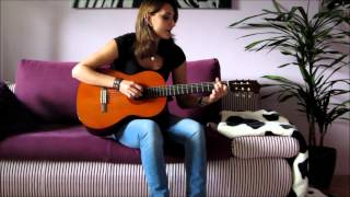 """Que Sera Sera"" on guitar (acoustic version) - by Julia"