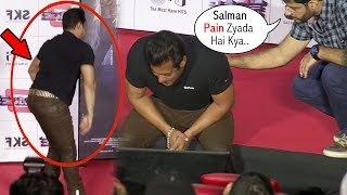 Salman Khan Suffers From Severe Back Pain At Race 3 Trailer Launch Event
