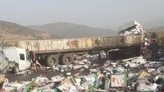 حادث مرور خطير جدا في منحدر الجباحية